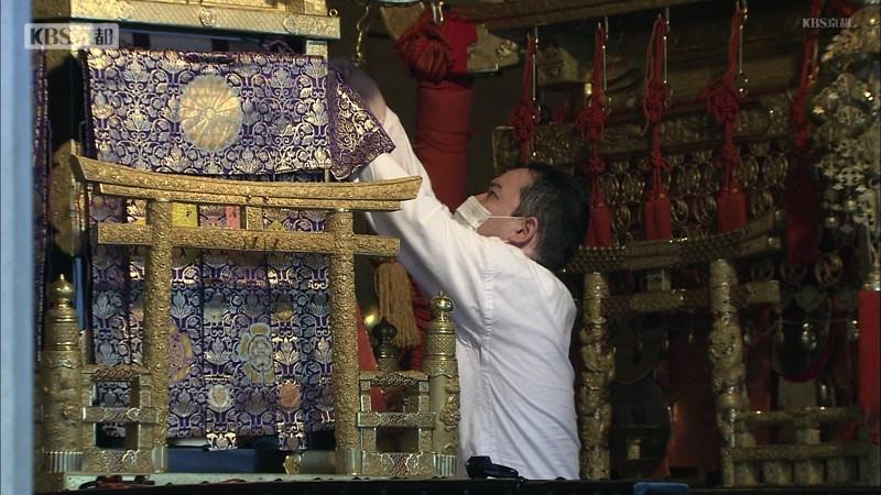 八坂神社で神事 「神輿洗い」昨夜