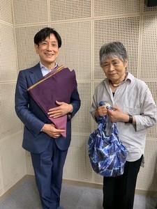 桂米團治さん / ふろしき研究会 代表 森田 知都子(ちづこ)さん