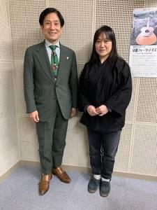 桂米團治と馬場麻紀さん