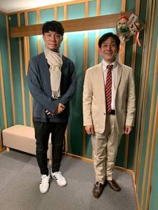 桂米團治と株式会社ATELIER SHIMURA代表 志村 昌司さん