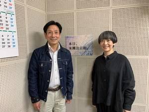 桂米團治とマリンバ奏者 通崎睦美さん